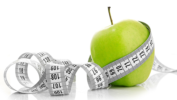 Appel meten gewicht verliezen